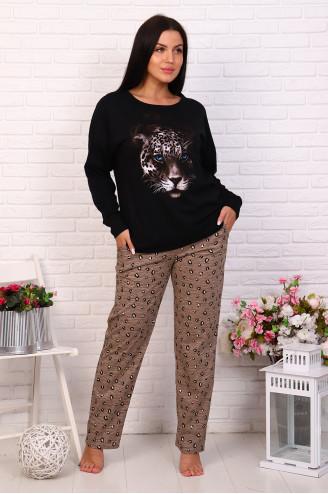 Костюм с брюками 60621  Леопард