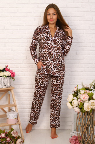 Костюм с брюками  НИКА Леопард