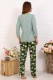 Костюм с брюками КОЛАДА  Зелёный