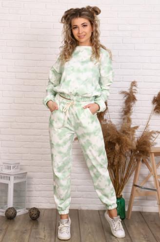 Костюм с брюками ДЖАГГИ  Зелёный