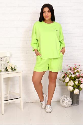 Костюм с шортами 17091 Зелёный