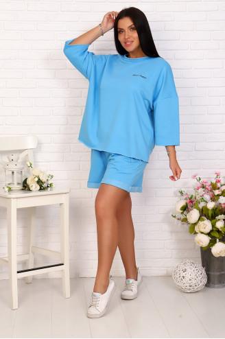 Костюм с шортами  17091  Голубой