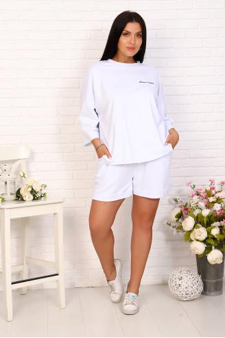 Костюм с шортами 17091 Белый