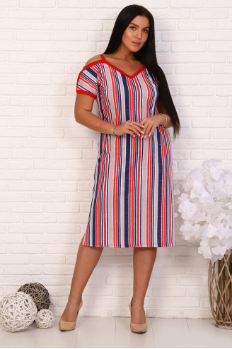 Платье женское 30053  Розово-синее
