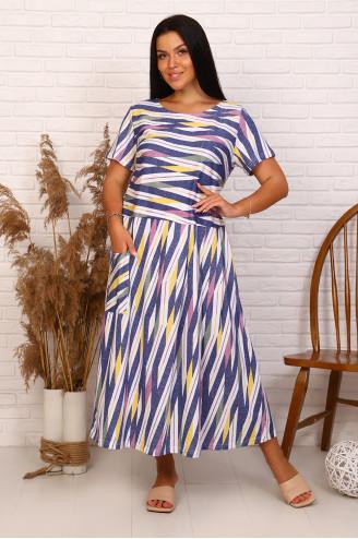 Платье женское 13672  Синий