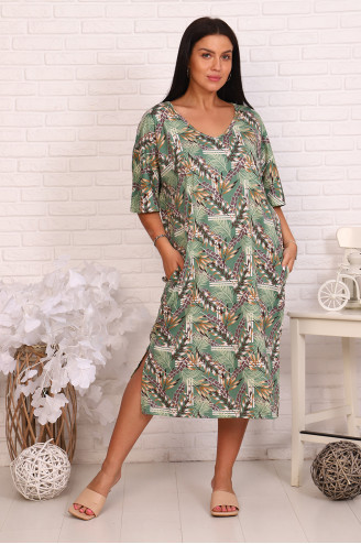 Платье женское 93053  Зелёный