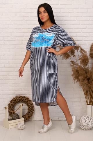 Платье женское  61321  Полоска