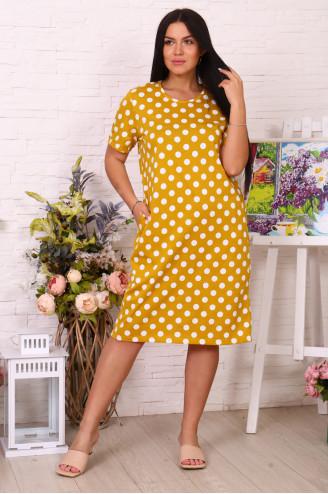 Платье женское  78511 Горчичный