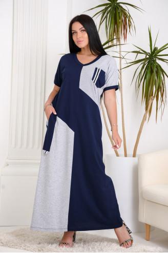 Платье женское 07431  Синий