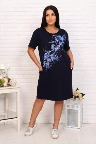 Туника женская 37621 Темно-синий