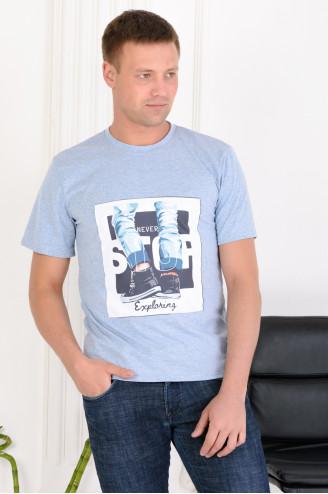 Футболка мужская  89552  Голубой