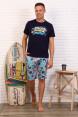 Костюм мужской с шортами ФЛИППИ  Темно-синий