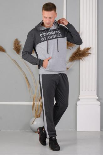 Костюм мужской с брюками 46801  Антрацит