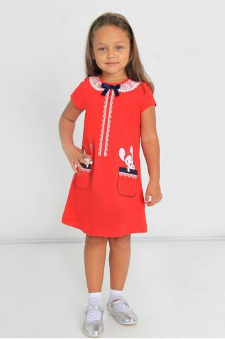 Платье детское Прятки  Красный