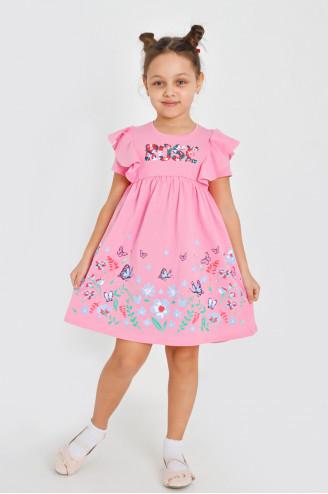 Платье детское ТУМАНА  Розовое